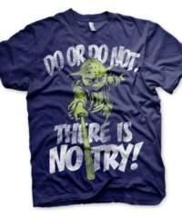Tričko Star Wars There Is No Try – Yoda, modré