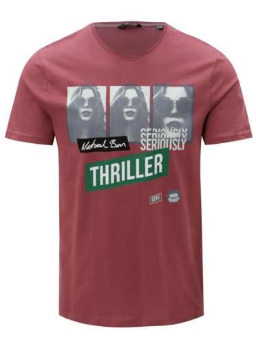 Vínové tričko s potiskem ONLY & SONS Gabriel