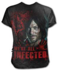 Pánské tričko SPIRAL The Walking Dead DARYL černá