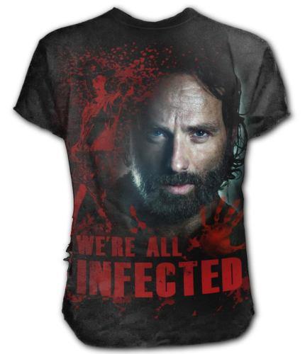 Pánské tričko SPIRAL The Walking Dead RICK černá