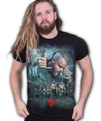 Pánské tričko SPIRAL Vikingové Vikingové černá