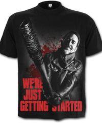 Pánské tričko SPIRAL The Walking Dead NEGAN černá