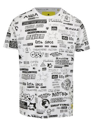 Bílé tričko s černým potiskem Shine Original