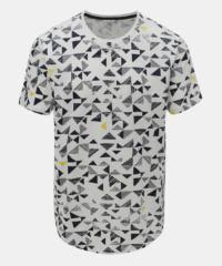 Bílé tričko s geometrickým potiskem ONLY & SONS Gene