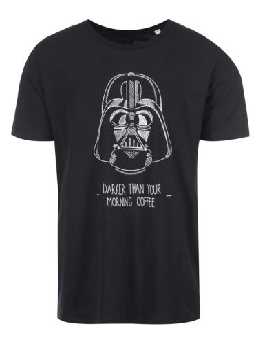 Černé pánské tričko s potiskem ZOOT Originál Darker Coffee
