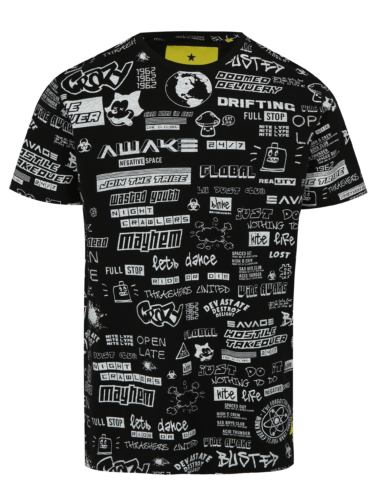 Černé tričko s bílým potiskem Shine Original