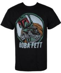 Pánské tričko LIVE NATION Star Wars BOBA FETT černá