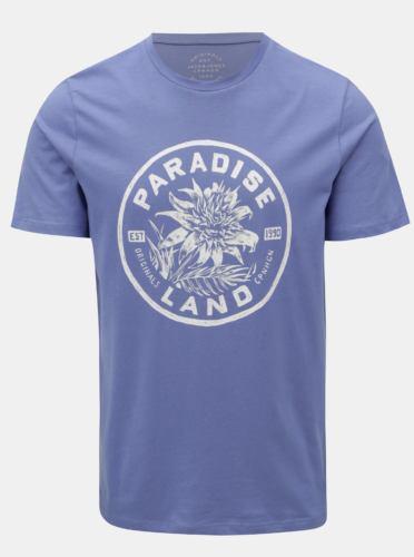 Fialové tričko s potiskem Jack & Jones New felt