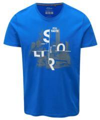 Modré pánské regular fit tričko s potiskem s.Oliver