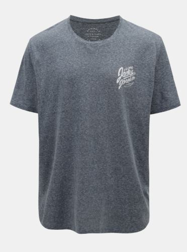 Modré žíhané tričko s potiskem Jack & Jones Breeze Small