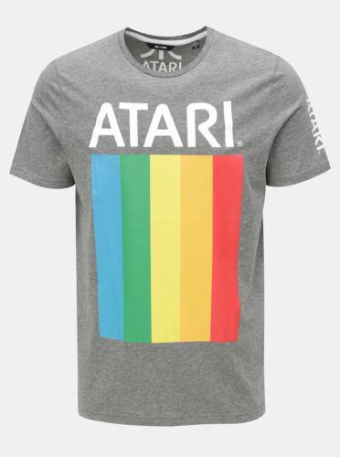 Šedé žíhané tričko s potiskem ONLY & SONS Atari