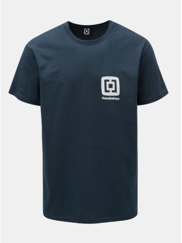 Tmavě modré pánské tričko s potiskem a krátkým rukávem Horsefeathers Mini Logo