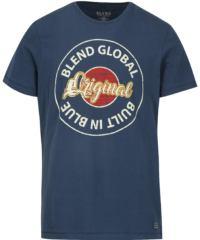 Tmavě modré slim fit tričko s potiskem a krátkým rukávem Blend
