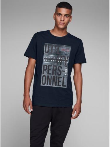 Tmavě modré tričko s potiskem Jack & Jones Denim
