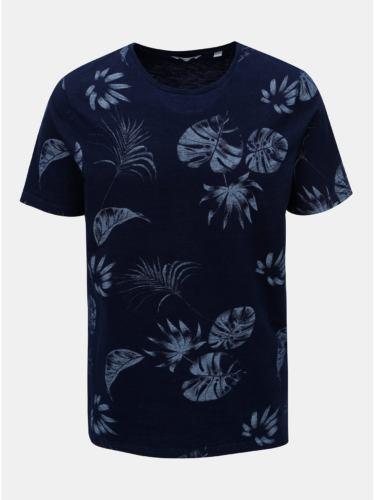Tmavě modré tričko s potiskem ONLY & SONS Malik