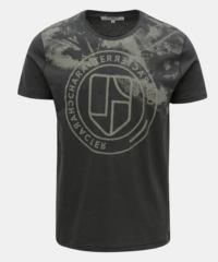 Tmavě šedé pánské tričko s potiskem Garcia Jeans