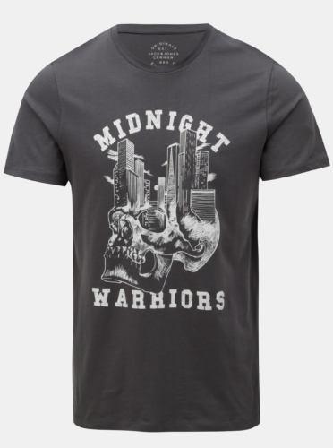Tmavě šedé tričko s potiskem Jack & Jones New felt