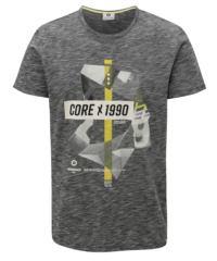 Tmavě šedé žíhané tričko s potiskem Jack & Jones Phil-Burke