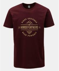 Vínové pánské tričko s potiskem a krátkým rukávem Horsefeathers Mt. Top