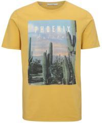 Žluté tričko s potiskem Selected Homme New Austin